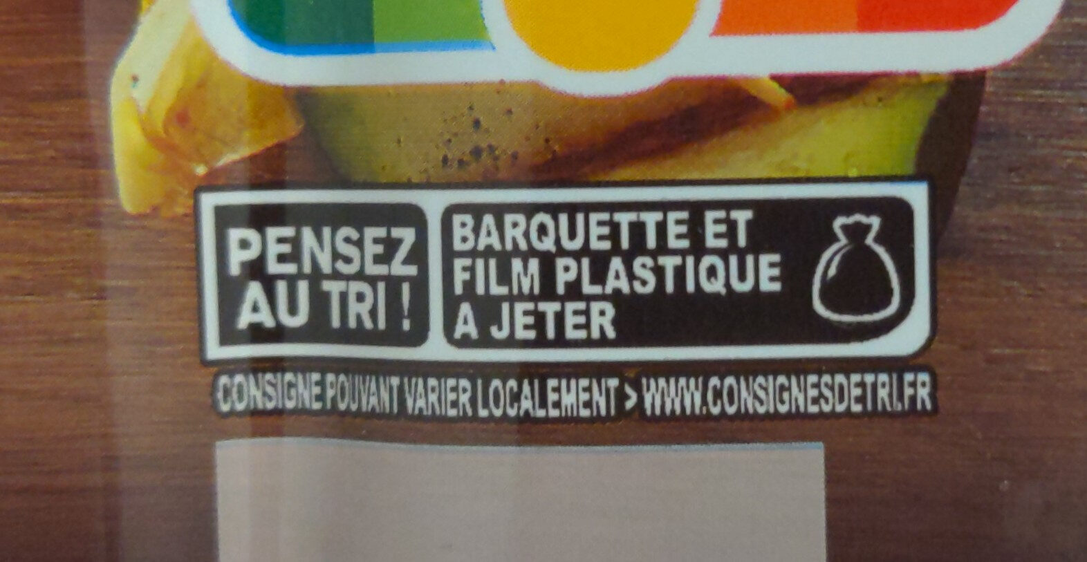 Rôti de porc - Recycling instructions and/or packaging information - fr