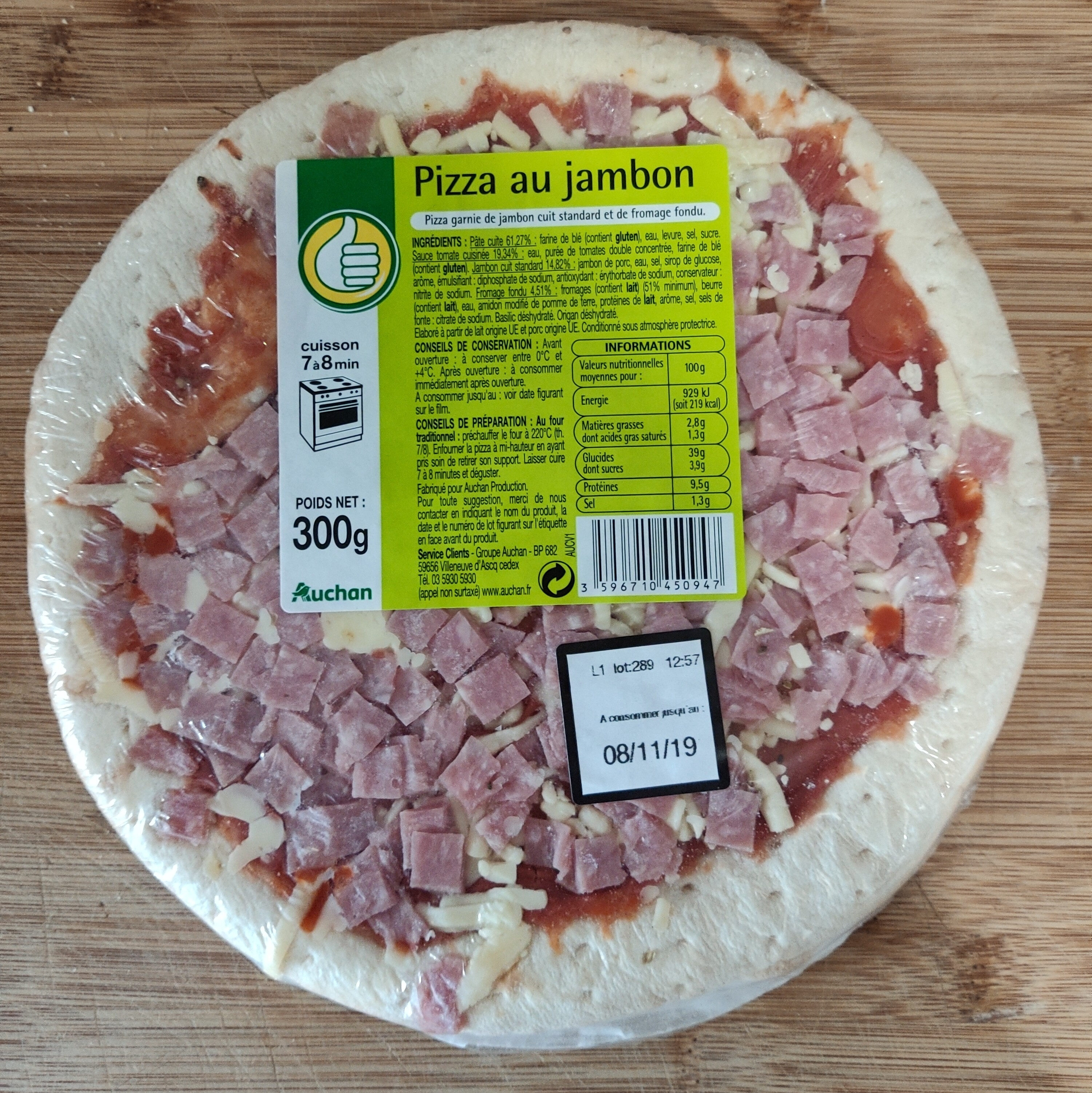 Pizza au jambon - Produit