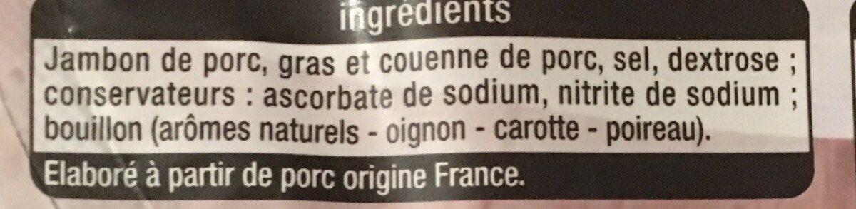 Jambon supérieur avec couenne - Ingrediënten