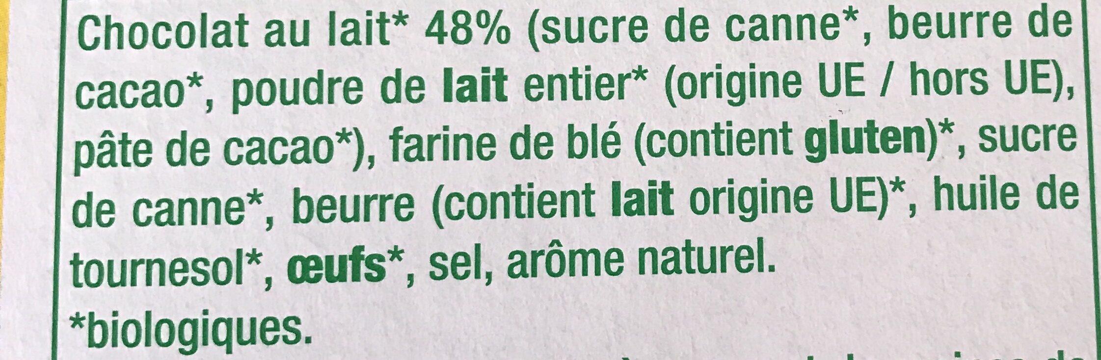 Bâtonnets chocolat au lait - Ingrédients - fr
