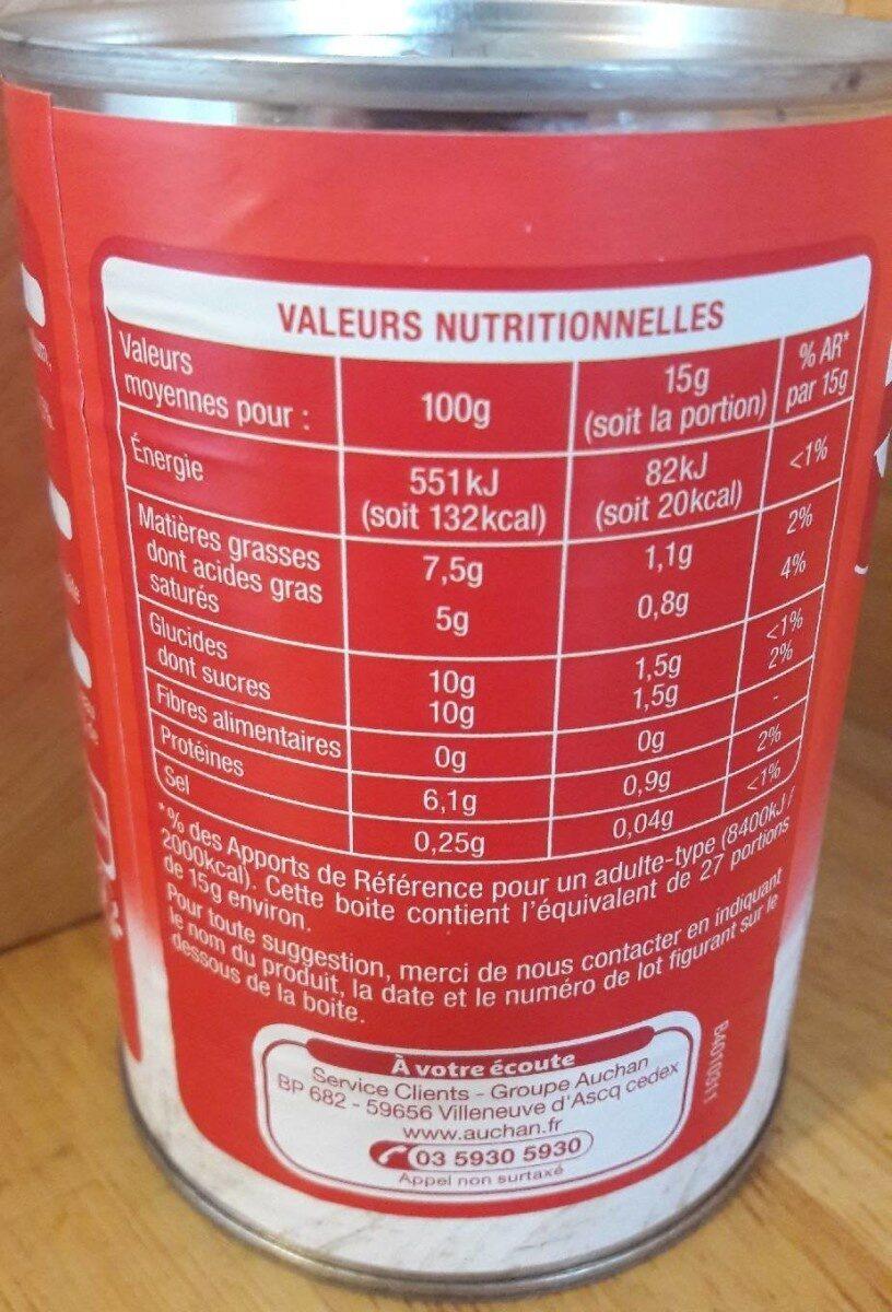 Lait concentré non sucré - Informations nutritionnelles - fr
