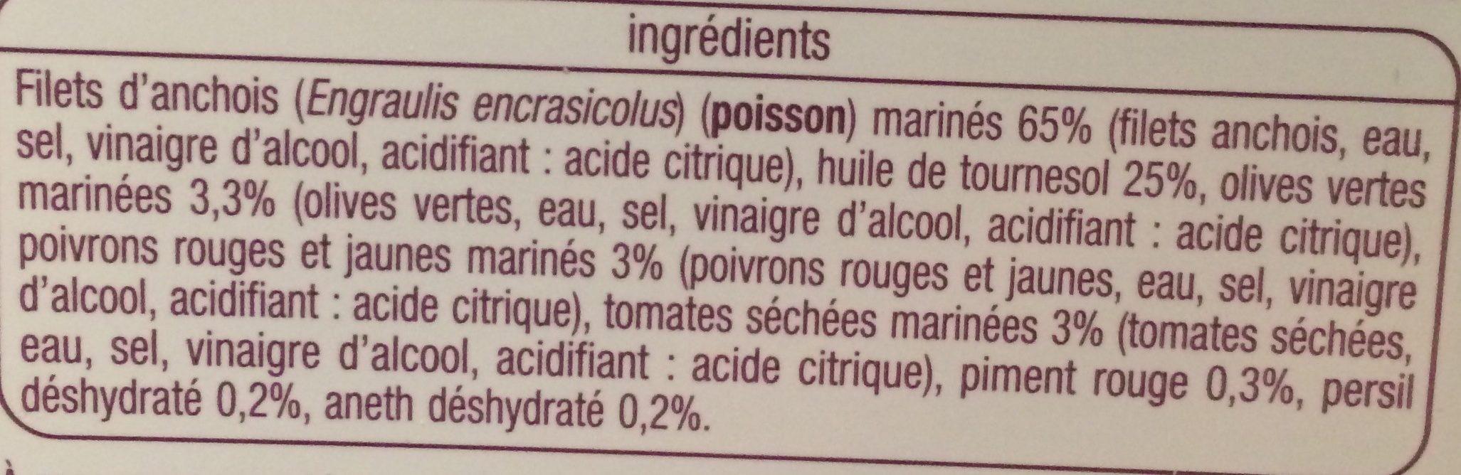 Filets d'anchois marinés à la catalane - Ingredients - fr