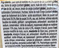 Pause Snack Poulet Fumé Emmental - Ingrediënten
