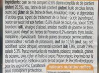Crudités Œuf Emmental (Pain de mie Complet) - Ingredients - fr