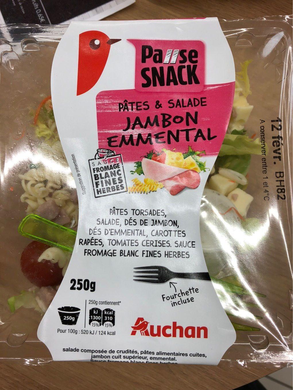 Pates & salade Jambon Emmental - Produit - fr