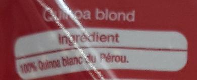 Quinoa blond - Ingredients