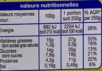 Pause snack veggie pâtes perles et salade graines et fruits secs - Informations nutritionnelles - fr