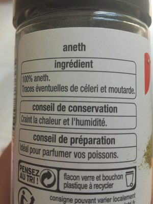 Aneth - Ingredients - fr