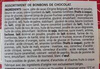 Chocolats belges - Ingrediënten - fr