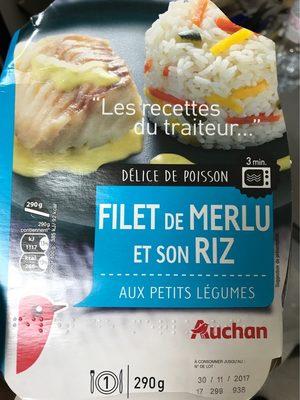 Filet de merlu et son riz aux petits légumes - Produit