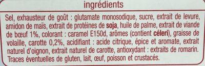 Bouillon gout boeuf - Ingrediënten - fr