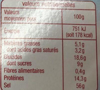 Bouillon gout boeuf - Voedingswaarden - fr