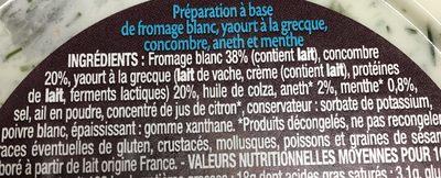 Tzatziki au yaourt à la grecque - Ingrediënten - fr