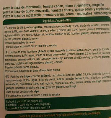 Pizza divina mozzarella - Ingredients
