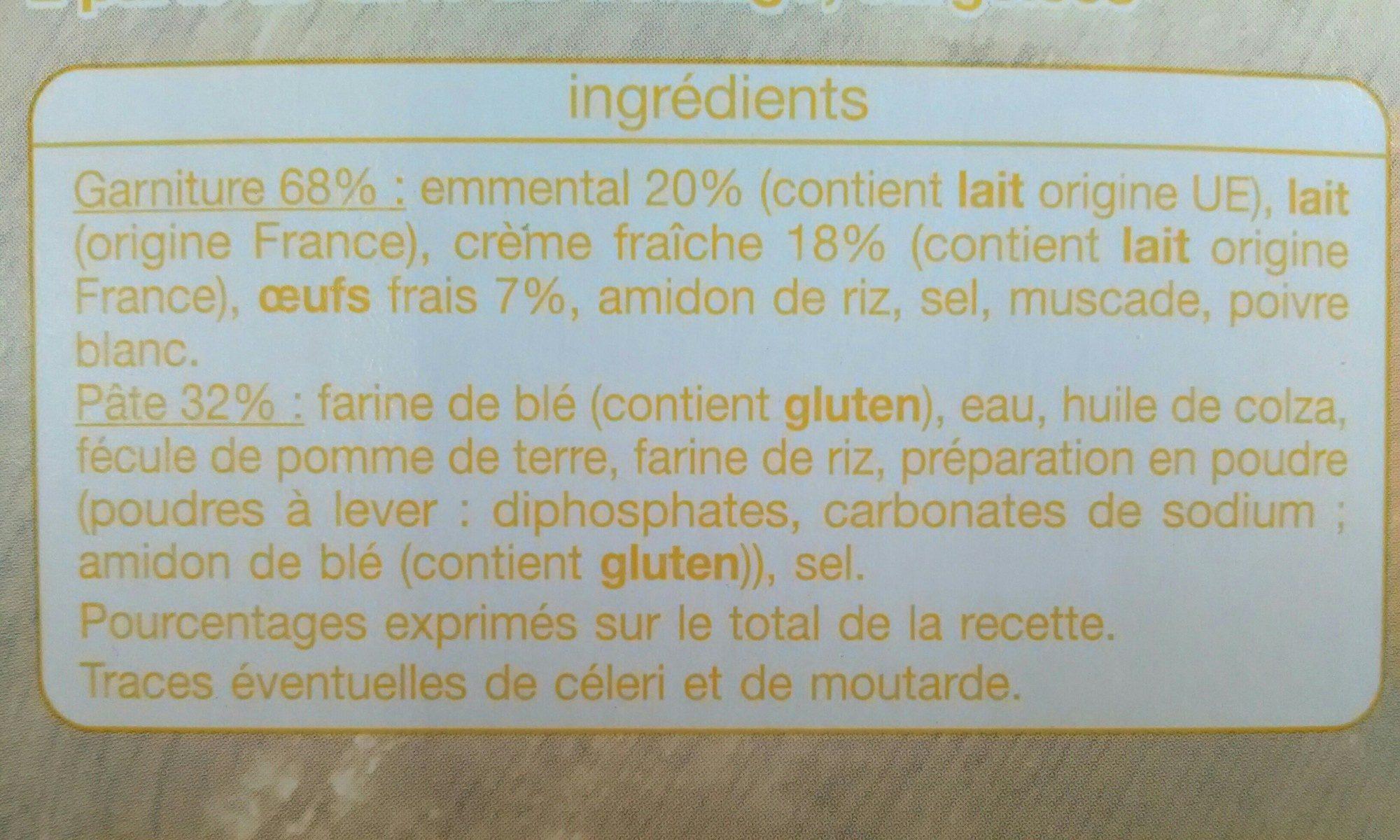 Tarte au fromage - Ingredients