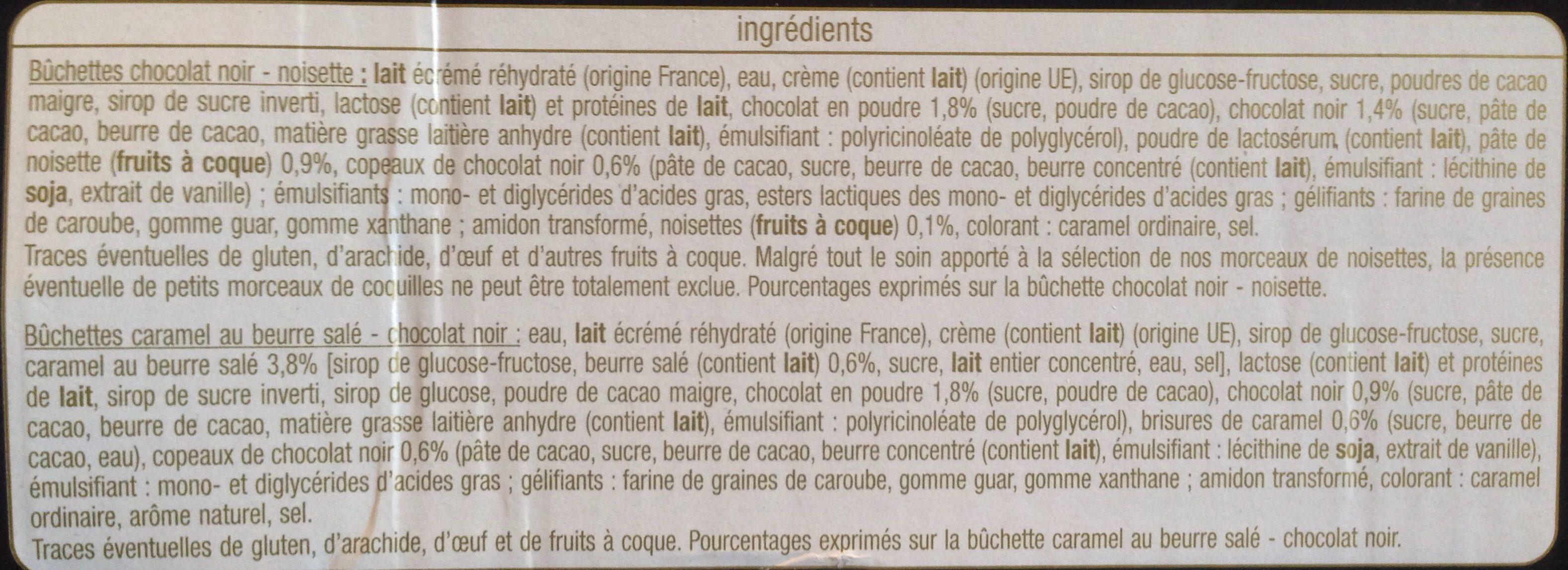 Bûchettes caramel et chocolat - Ingredients - fr