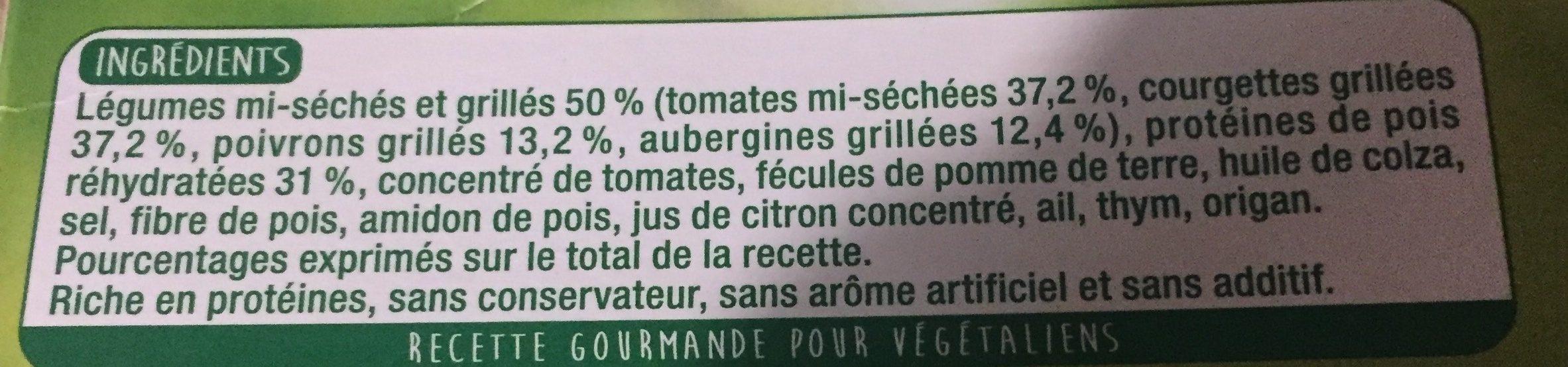 Steaks de legumes - Ingredients