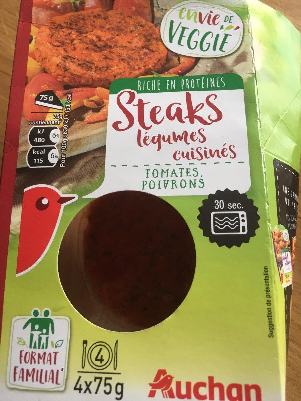 Steaks légumes cuisinés - Product