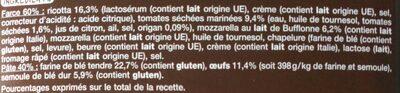 Mezzelune Tomates marinées et mozzarella - Ingrédients