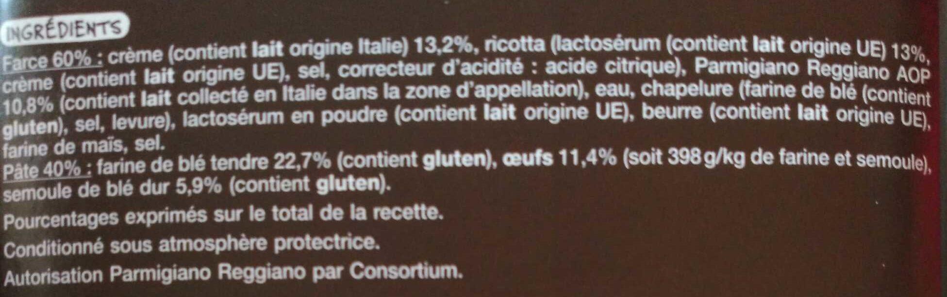 Mezzelune au Parmigiano Reggiano - Ingrédients - fr