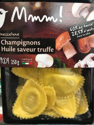Mezzelune Champignons huile saveur truffe - Produit - fr