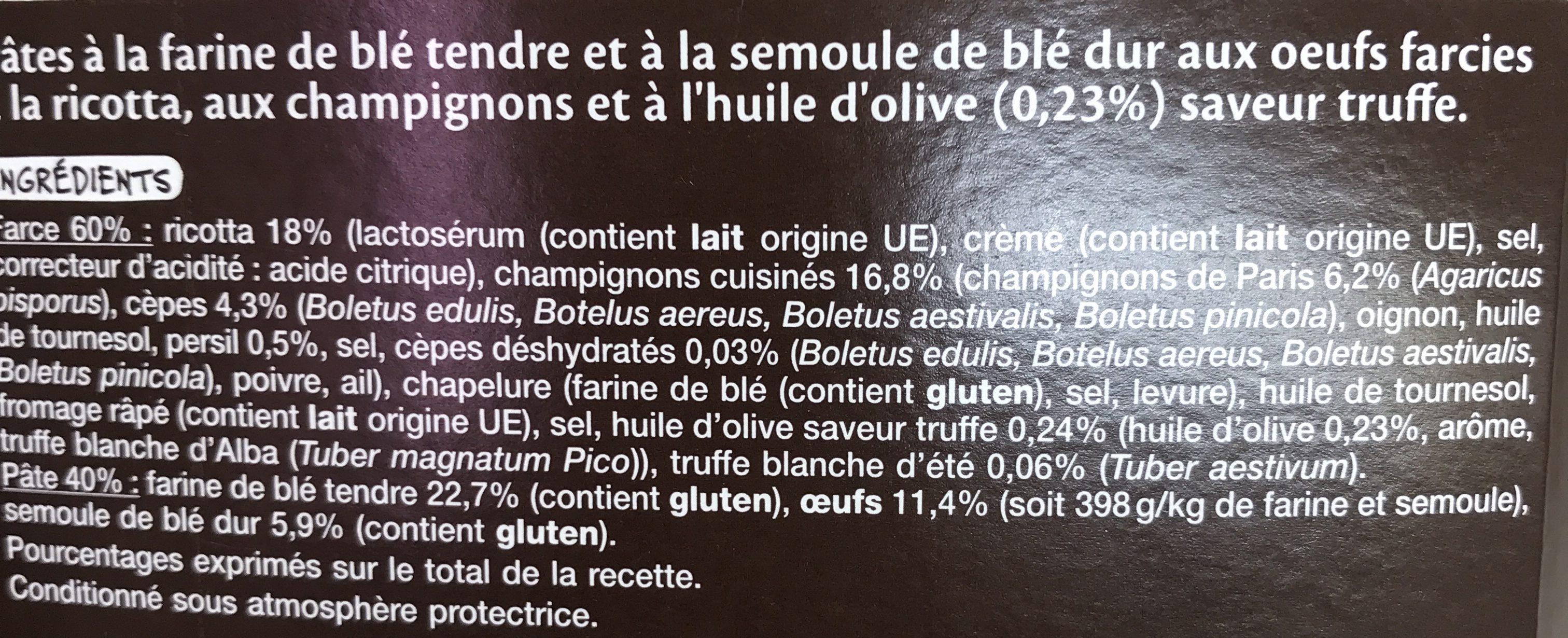 Mezzelune Champignons huile saveur truffe - Ingrédients - fr