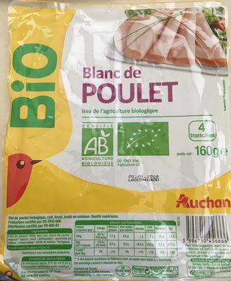 Blanc de POULET issu de l'agriculture biologique - Product - fr