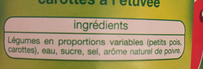 Petits pois carottes à l'étuvée très fins - Ingrediënten - fr
