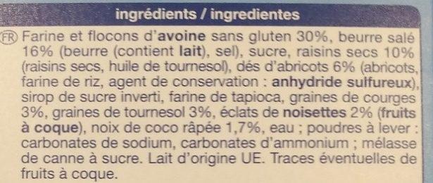 Muesli Cookies pur beurre - Ingrediënten - fr
