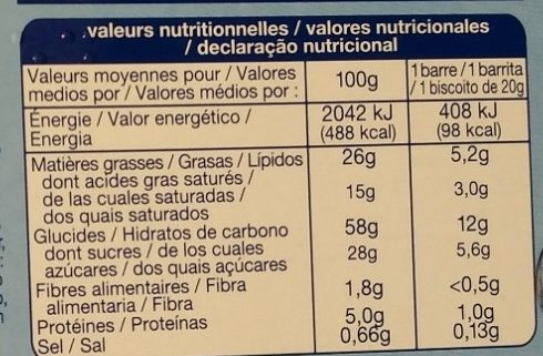 Choco Crunchy - Informations nutritionnelles - fr