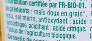 Maïs doux - Ingrédients - fr