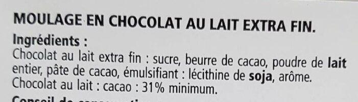Chocolat au lait extra fin - Ingredients - fr