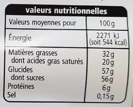 Chocolat au lait extra fin - Nutrition facts - fr
