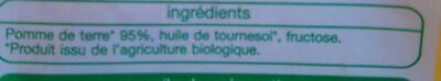 Pommes rissolées BIO - Ingrédients - fr