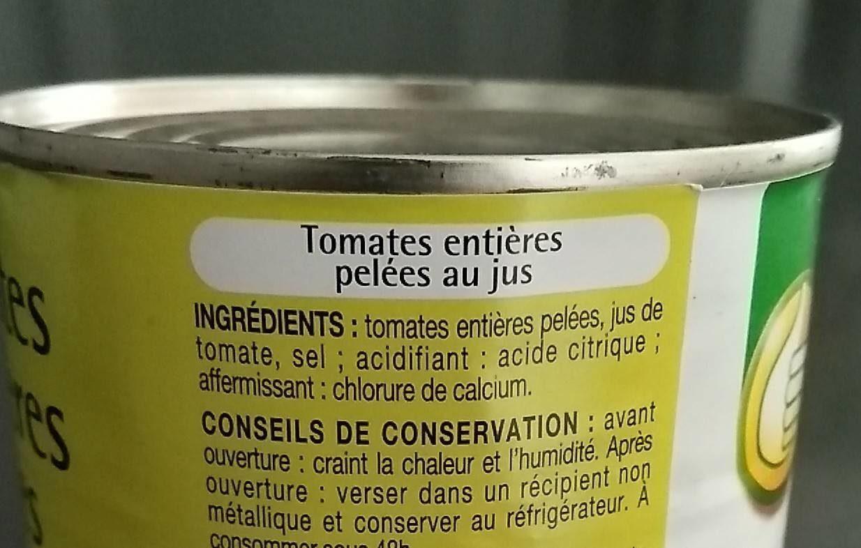 Tomates entières pelées - Ingredients - fr