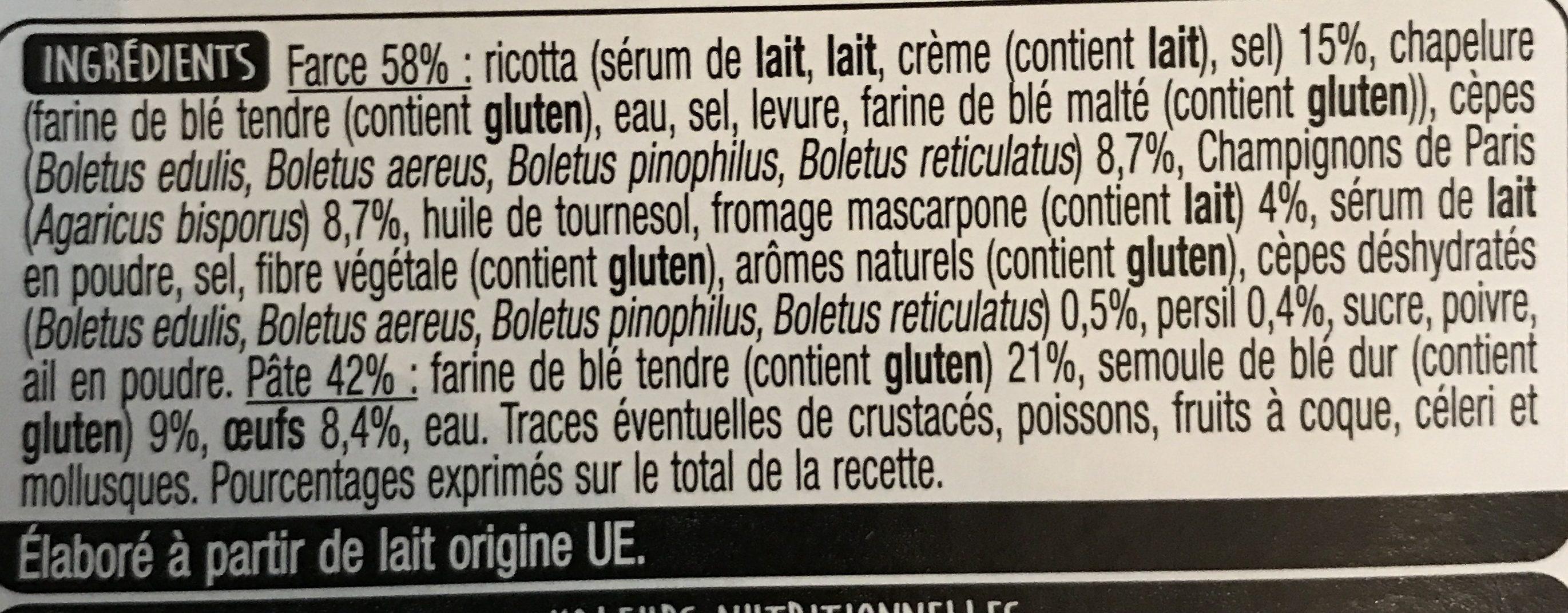 Girasole Champignons Mascarpone - Ingredients - fr