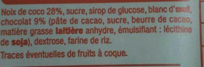 Mini rochers à la noix de coco et au chocolat - Ingredients