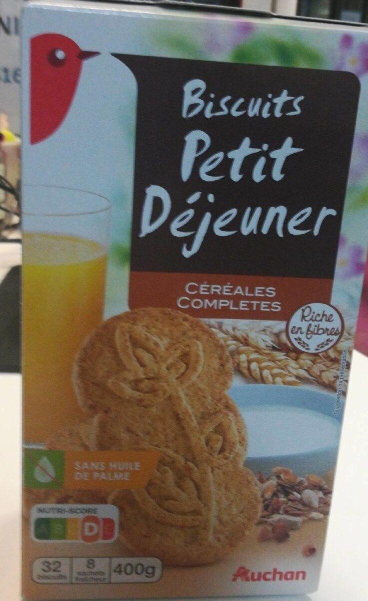 Biscuits petit déjeuner céréales complètes - Produit - fr