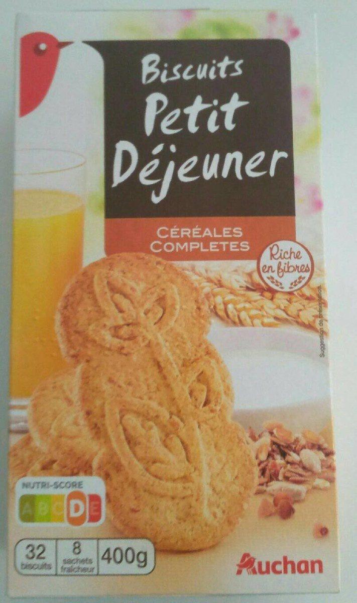 Biscuits petit déjeuner céréales complètes - Product - fr