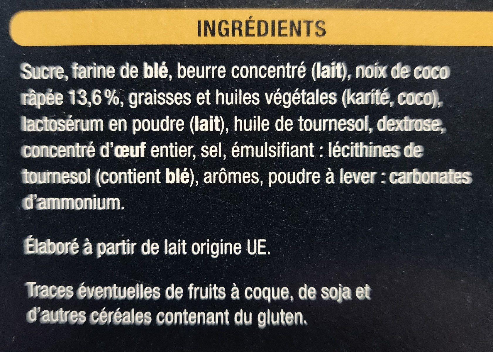 Délice saveur noix de coco - Ingredients
