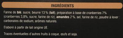 Croquantines Saveur Cranberries - Ingrédients