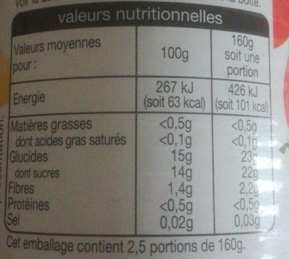 Cocktail 4 fruits - Informations nutritionnelles - fr