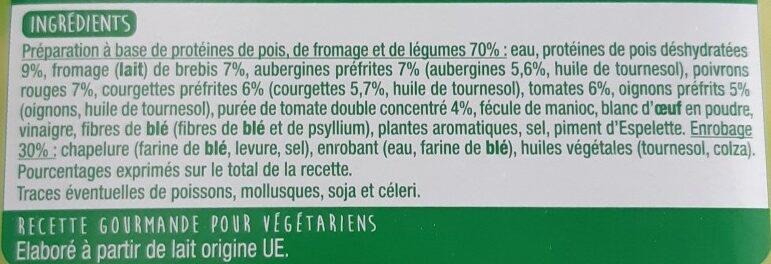 Panés gourmands façon basquaise - Ingrédients - fr