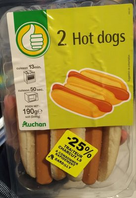 2 hot dogs - Produit - fr