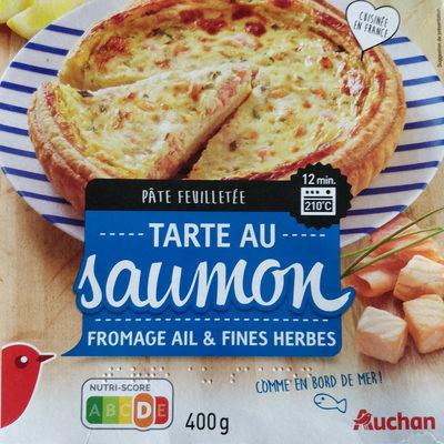 Tarte au saumon fromage ail et fines herbes - Product