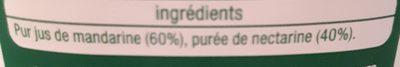 Pur jus mandarine nectarine - Ingredienti - fr