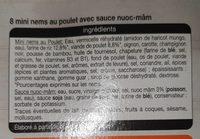 8 mini nems - Ingrediënten - fr