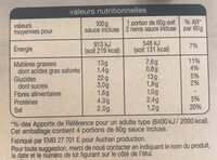 8 mini nems - Voedingswaarden - fr