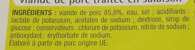 Allumettes nature - Ingredients