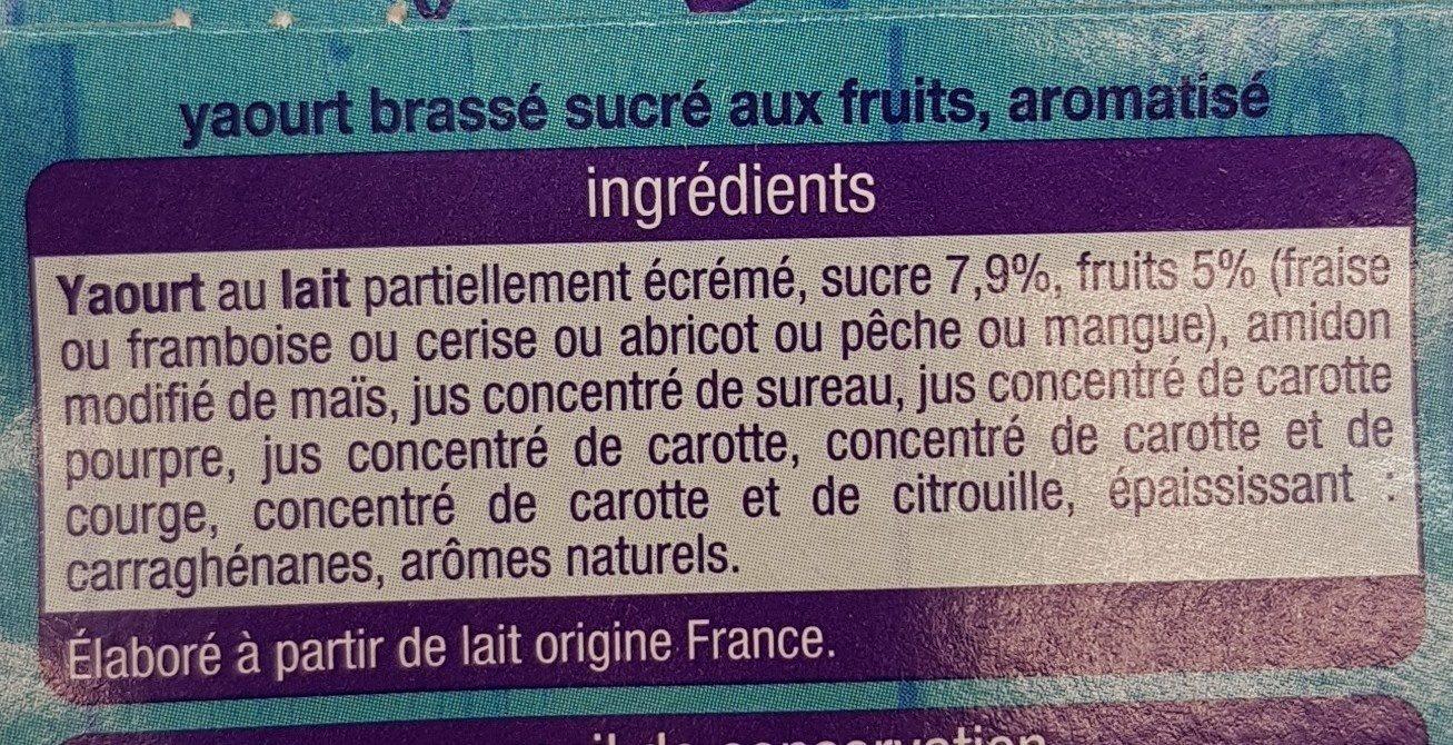Yaourt mixé 6 saveurs - Ingredients